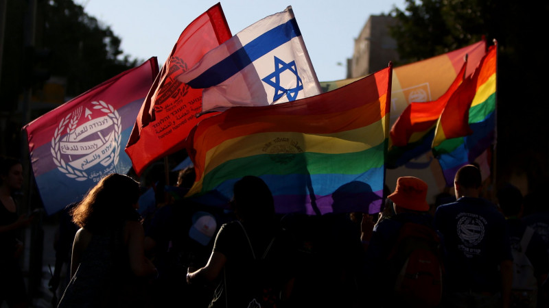 Protest against homophobes of Israeli parliament