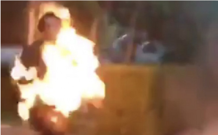 Transgender woman sets herself on fire in Tbilisi