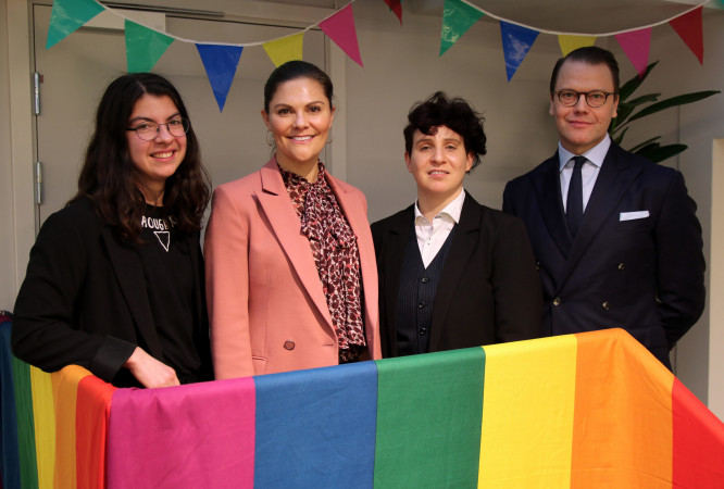 Crown Princess Victoria of Sweden visited LGBTI organisation